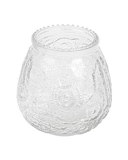 vaso para velas 9,5x9,5 cm transparente cristal (60 unid.)