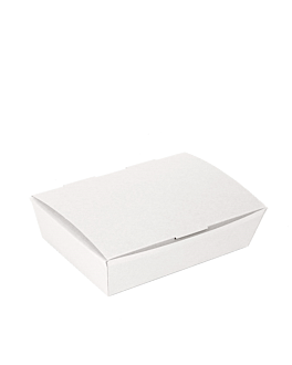 "cajas ""lunch box"" tapa 'thepack' 230 g/m2 21x18x5,5 cm blanco cartÓn ondulado nano-micro (300 unid.)"
