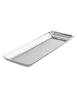 mini plateaux tapas 19x6,5x1,2 cm argente ps (500 unitÉ)