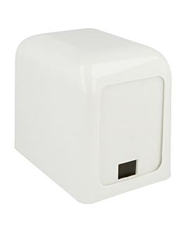 dispensador tovallons mini servis 15x10x12,5 cm blanc abs (12 unitat)