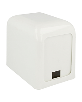 dispensador para 100 servilletas mini servis 15x10x12,5 cm blanco abs (12 unid.)