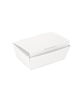 lunch box lid 'thepack' 230 gsm 14x9,7x5 cm white nano-micro corrugated cardboard (480 unit)