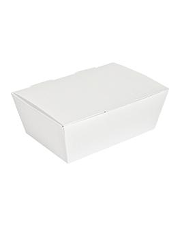 "boÎtes ""lunch box"" couvercles 'thepack' 230 g/m2 14x9,7x5 cm blanc carton ondulÉ nano-micro (480 unitÉ)"