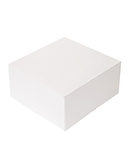 cake boxes without window 'thepack' 250 gsm 24x24x12 cm white nano-micro corrugated cardboard (100 unit)