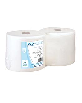 matatrapos ecolabel 2 capas - bobina 2,5 kg 19 g/m2 Ø26x24 cm blanco tissue (2 unid.)