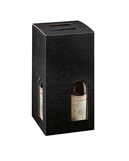 20 u. cajas 4 botellas 18x18x34 cm negro cartÓn (1 unid.)