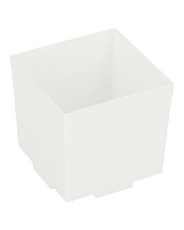 cubos apilables para aperitivos 4,2x4,2x4,2 cm blanco ps (200 unid.)