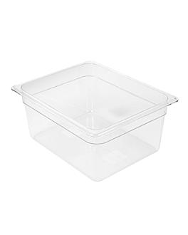 gastronorm pan 1/2 8,4 l 32,5x26,5x15 cm clear polycarbonate (1 unit)