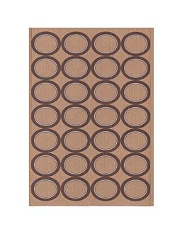 100 feuilles din a4 28 Étiquettes ovales 4,5x3,6 cm kraft (1 unitÉ)