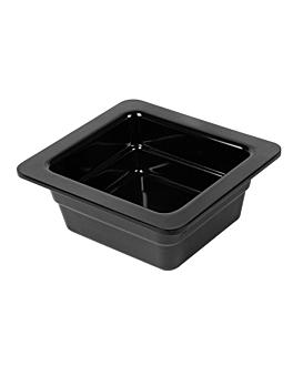 gn pans 1/6 6,5 (h) cm black melamine (6 unit)
