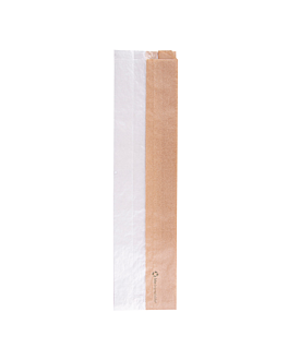 bolsas para sÁndwiches con ventana eco 'corner window' 40 g/m2 9+5,5x38 cm natural kraft (250 unid.)