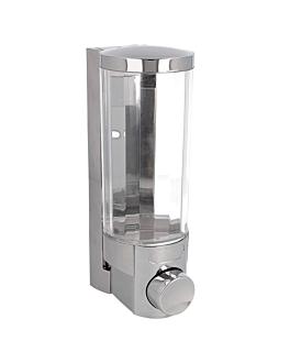 dispensador sabÃo 400 ml 6,5x9x19,2 cm prateado abs (1 unidade)