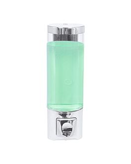 soap dispenser 400 ml 6,5x6,3x20,3 cm silver abs (1 unit)
