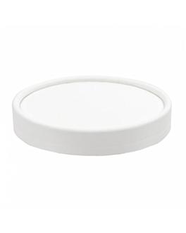 couvercles pots À glaces 240 ml 280 + 18 pe g/m2 Ø9,4 cm blanc carton (1000 unitÉ)