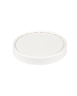 lids for ice-cream tubs 240 ml 280 + 18 pe gsm Ø9,4 cm white cardboard (1000 unit)