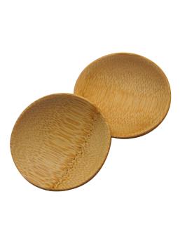 mini assiettes rondes Ø 6 cm naturel bambou (24 unitÉ)