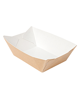 containers 'thepack' 960 g 220 gsm 10,5x7,2x4,5 cm natural nano-micro corrugated cardboard (1200 unit)