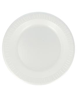 """prato em """"foam"""" Ø 26 cm branco pse (500 unidade)"""