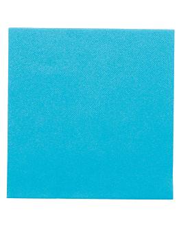 serviettes 55 g/m2 40x40 cm turquoise dry tissue (700 unitÉ)