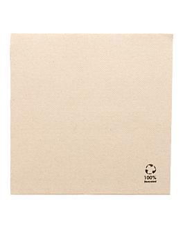 servilletas ecolabel double point 'paper pack' 19 g/m2 39x39 cm natural tissue reciclado (1200 unid.)