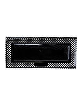 """plateaux dentelle """"erik"""" 14x32 cm noir carton (100 unitÉ)"""