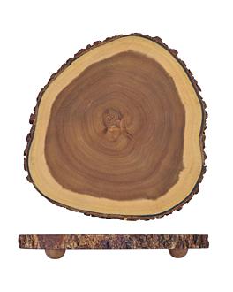 plateaux prÉsentation rondes Ø 30,5x3,5 cm naturel bois (4 unitÉ)