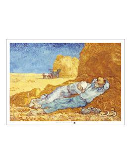tovagliette offset 'van gogh' 70 g/m2 31x43 cm quatricomia carta (2000 unitÀ)