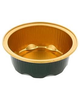 bakery containers 50 ml Ø7,1x2,5 cm gold/black aluminium (100 unit)