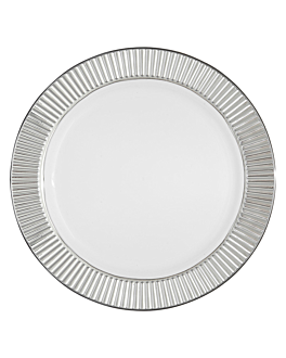 6 platos ribete plata Ø 25,5 cm blanco ps (24 unid.)