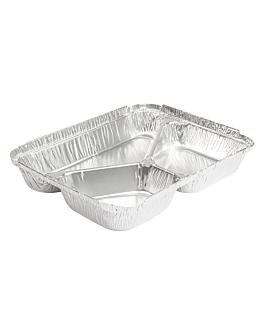 rÉcipients 3 compartiments 380/220/166 ml 22,7x17,7x3 cm aluminium (800 unitÉ)