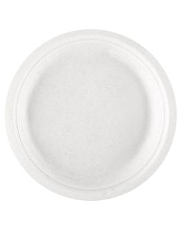 platos 'bionic' Ø 18x1,8 cm blanco bagazo (1000 unid.)