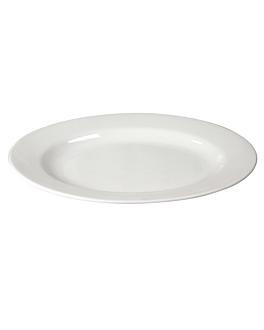 plats ovales 33 cm long. blanc porcelaine (12 unitÉ)