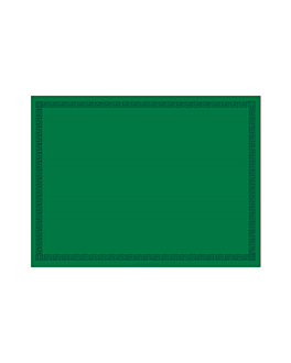 mantelines 55 g/m2 30x40 cm verde airlaid (800 unid.)