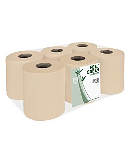 """essuie-mains """"maxi barril"""" ecolabel 2 plis - bobine 1kg 19 g/m2 Ø 19x21,6 cm naturel papier recyclÉ (6 unitÉ)"""