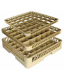 suplemento rack de 36 compartimentos 50x50x4,5 cm beige pp (1 unid.)