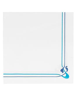 ecolabel napkins navy blue & sky blue 'double point - maxim' 18 gsm 40x40 cm white tissue (1200 unit)