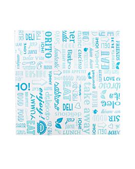 emballages basket 'parole' 32 g/m2 31x31 cm bleu parch.ingraissable (4000 unitÉ)