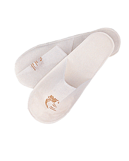 zapatillas 'touch of charm' 27x12 cm blanco airlaid (2 unid.)