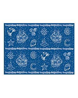 "manteles ""antibes"" 48 g/m2 80x120 cm azul marino celulosa (250 unid.)"