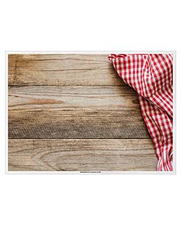 """table mats offset """"rustic"""" 70 gsm 31x43 cm four coloured paper (2000 unit)"""