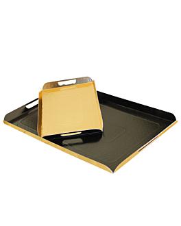 vassoi con manici 750 g/m2 28x42 cm nero/oro cartone (100 unitÀ)