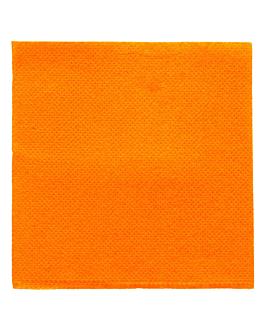 serviettes ecolabel 'double point' 18 g/m2 20x20 cm clementine ouate (2400 unitÉ)