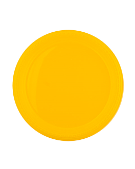 assiette de couleur Ø 23 cm jaune ps (500 unitÉ)