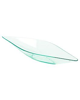 "recipientes aperitivos ""canoa"" 13x4,1x2 cm verde Água ps (1152 unidade)"