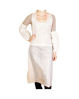 aprons in bulk 25µ 69x107 cm white peld (100 unit)