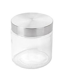 barattolo conserve cilindrico 830 ml Ø 11,2x12 cm trasparente cristal (12 unitÀ)