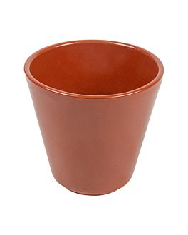 verres en faÏence 380 ml Ø9,1x9 cm marron ceramique (30 unitÉ)