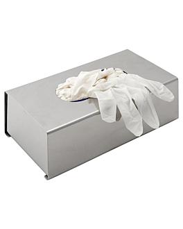 dispensador de luvas 26x15,7x7,5 cm prateado inox (1 unidade)