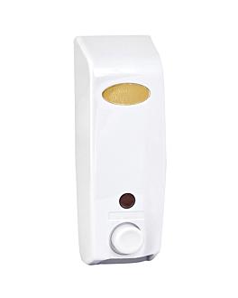 dispensador de jabÓn 400 ml 8,5x8,5x25 cm blanco abs (1 unid.)