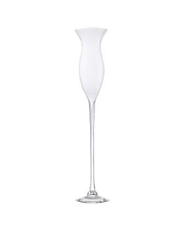 decoration geante - coupe tulipe Ø 15,5x80 cm blanc verre (1 unitÉ)